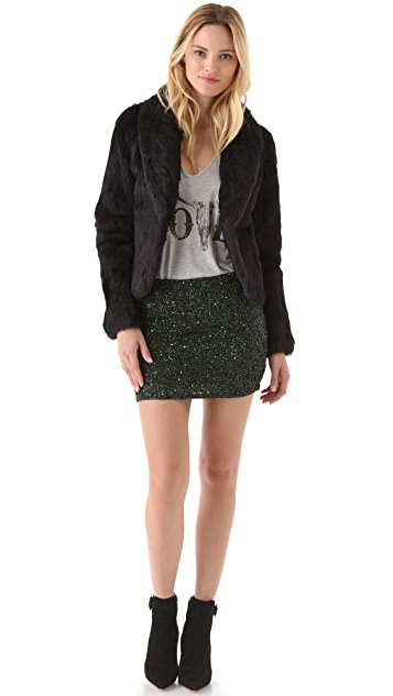 Haute Hippie Junk Sequin Miniskirt