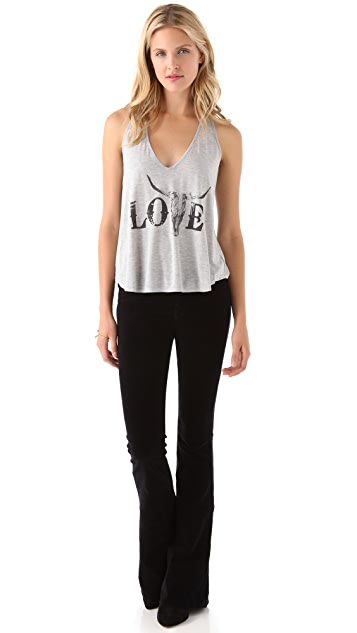 Haute Hippie Love V Neck Tank