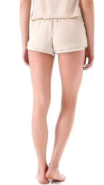 Haute Hippie Silk Georgette Shorts