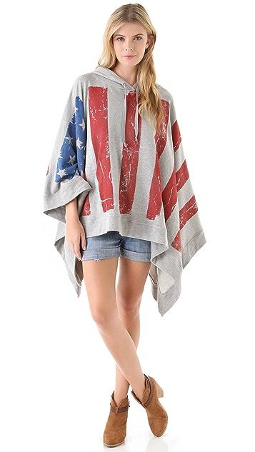 Haute Hippie Haute Hoodie Flag Poncho