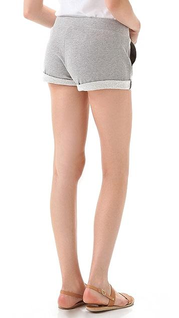 Haute Hippie Haute Hoodie Drawstring Shorts