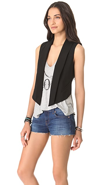 Haute Hippie Open Back Tux Vest