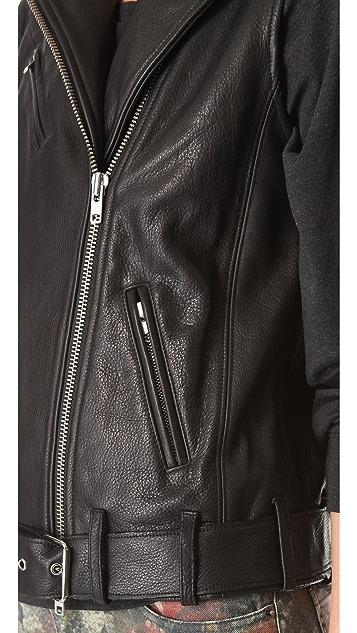 Haute Hippie Leather Moto Vest