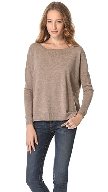 Haute Hippie Lurex Off Shoulder Sweater