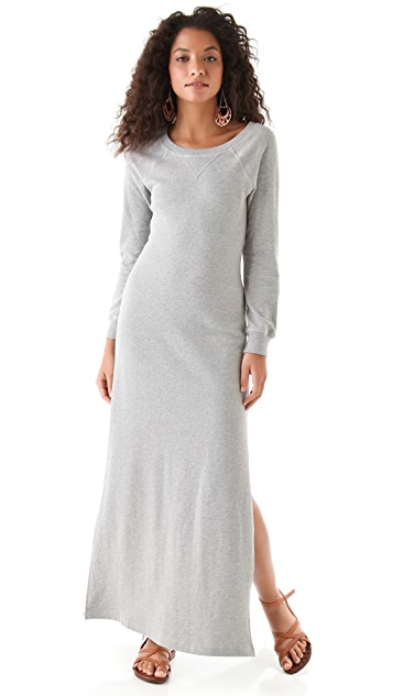 Haute Hippie Haute Hoodie Sweatshirt Maxi Dress