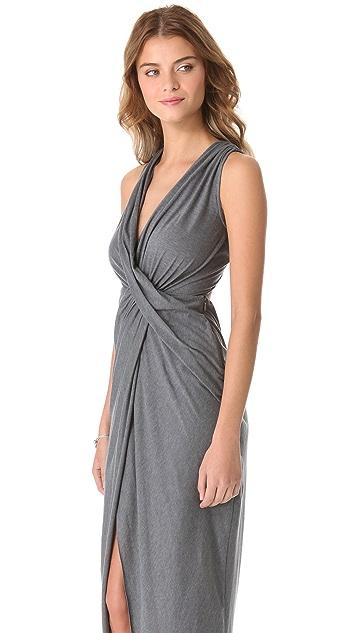 Haute Hippie Draped Jersey Gown