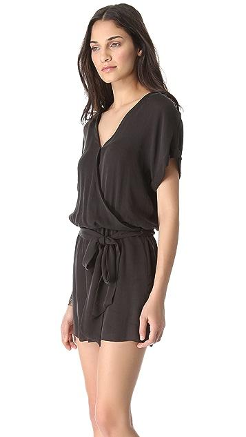 Haute Hippie Rolled Sleeve Mini Dress