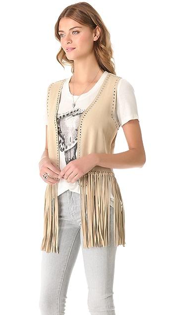 Haute Hippie Suede Vest