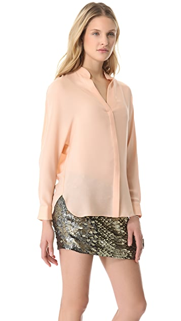Haute Hippie Wide Sleeve Dolman Blouse