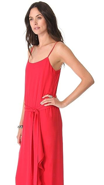 Haute Hippie Ruffle Slit Cami Gown
