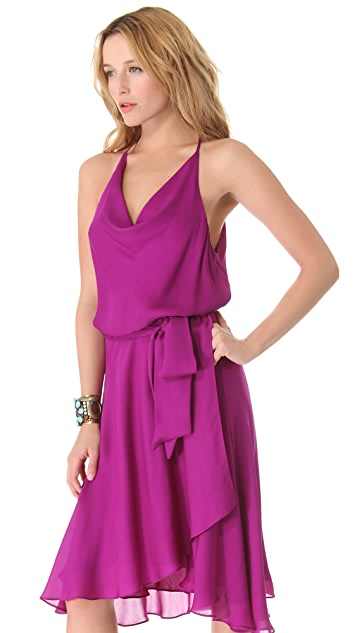 Haute Hippie Drape Neck Dress