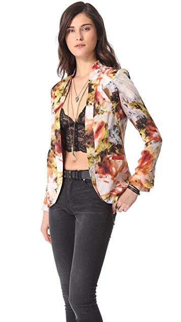 Haute Hippie Dropped Lapel Blazer