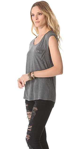 Haute Hippie Oversized Tee with Pocket