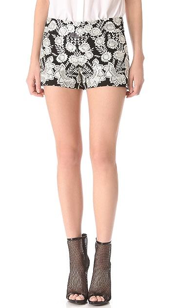 Haute Hippie Embellished Threadwork Shorts