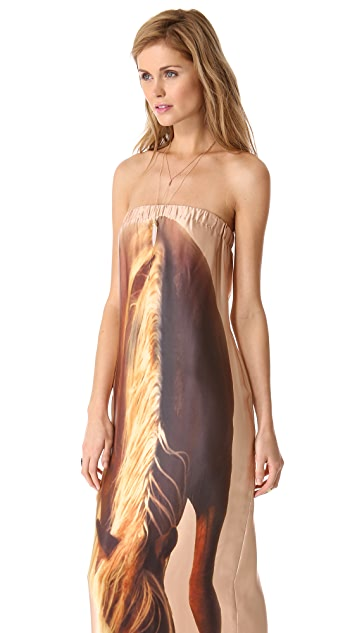 Haute Hippie Horse Strapless Dress