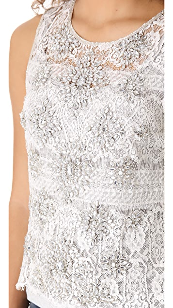 Haute Hippie Art Deco Lace Top