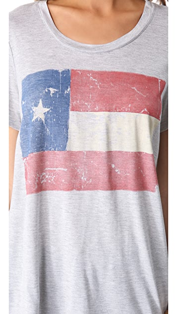 Haute Hippie Texas Flag Tee