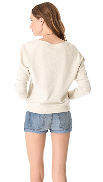 Haute Hippie Gold Long Horn Sweatshirt