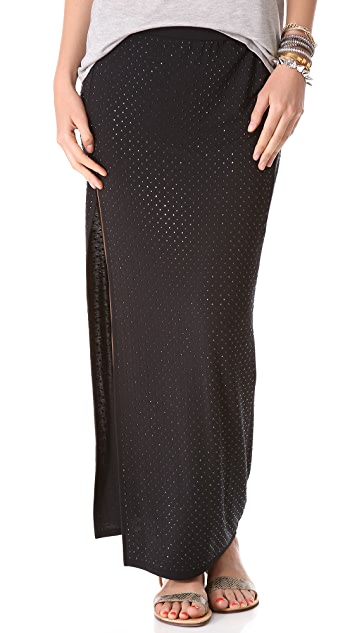 Haute Hippie High Slit Maxi Skirt