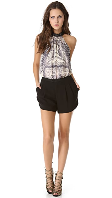 Haute Hippie Faille Shorts