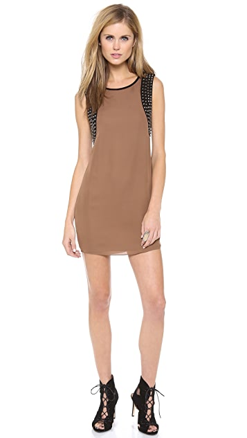 Haute Hippie Studded Shift Dress