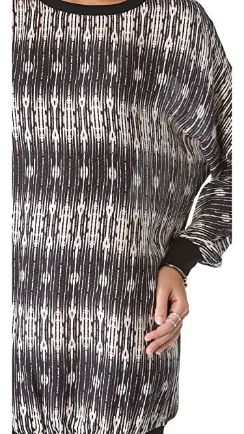 Haute Hippie Print Sweatshirt Dress