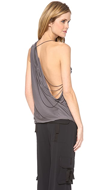 Haute Hippie Asymmetric Chain Top