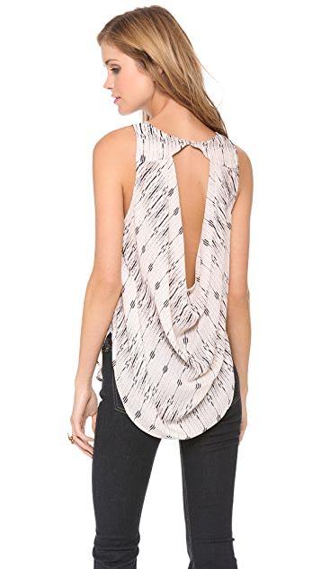 Haute Hippie Cowl Back Top