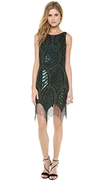 Haute Hippie Embellished Cocktail Dress