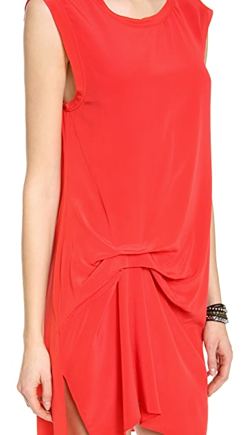 Haute Hippie Gathered Muscle Dress