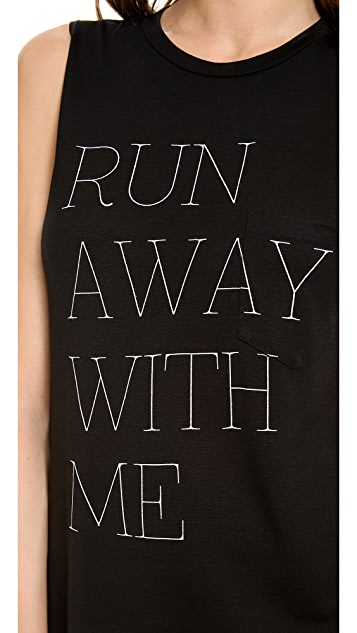 Haute Hippie Run Away With Me Muscle Tank