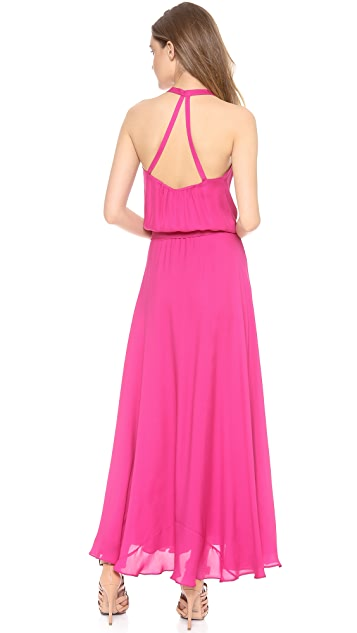 Haute Hippie Faux Wrap Gown