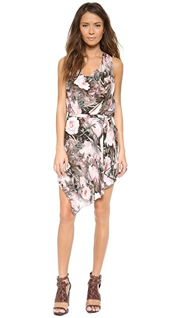Haute Hippie Racer Back Cowl Front Dress with Tie