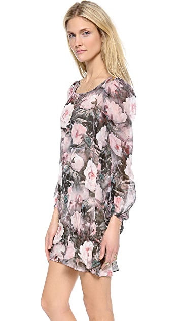 Haute Hippie Long Sleeve Floral Dress