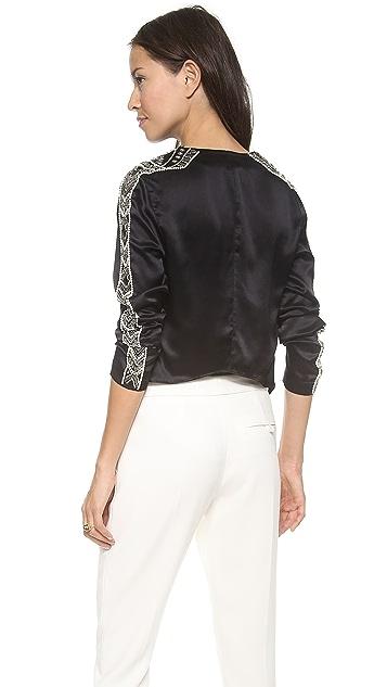 Haute Hippie Cropped Embellished Jacket