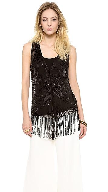 Haute Hippie Embellished Drape Vest