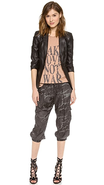 Haute Hippie Cropped Cargo Pants