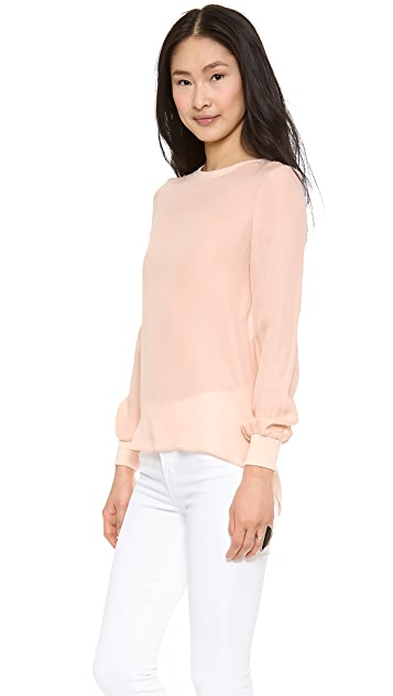 Haute Hippie Blouse Open Cowl Back