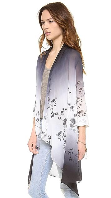 Haute Hippie Ombre Ink Blot Long Draped Cloak
