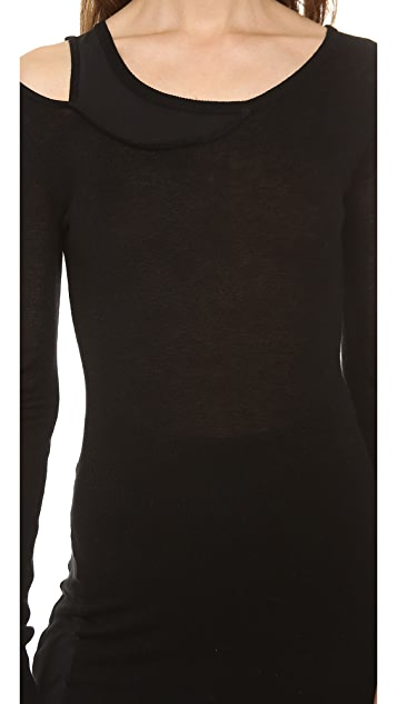 Haute Hippie Asymmetrical Sweater Dress