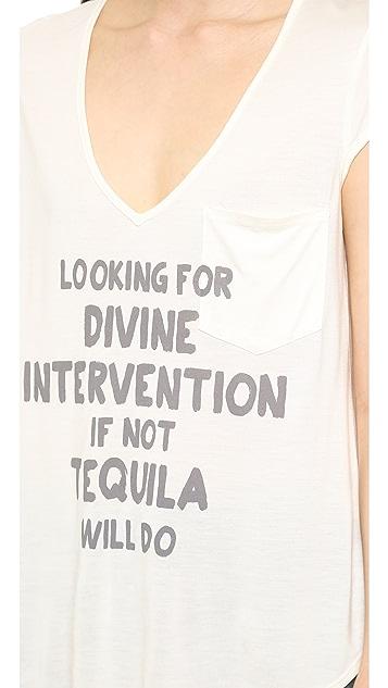 Haute Hippie Rolled Sleeve Divine Intervention Tee