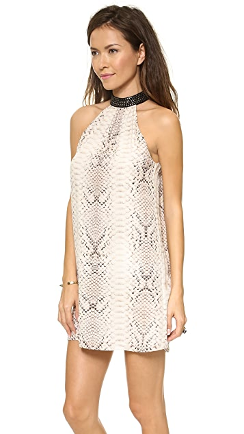Haute Hippie Collar Sleeveless Dress