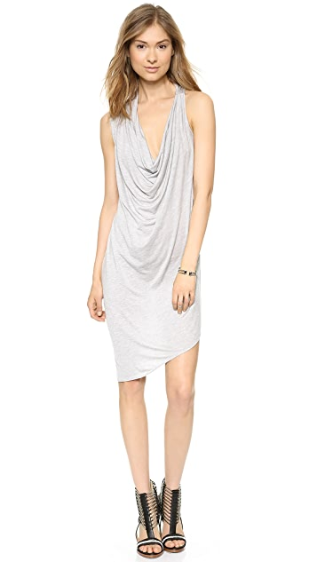 Haute Hippie Asymmetrical Cowl Dress