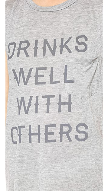 Haute Hippie Drinks Well with Others Muscle Tank