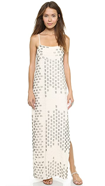 Haute Hippie Embellished Seed Beed Gown