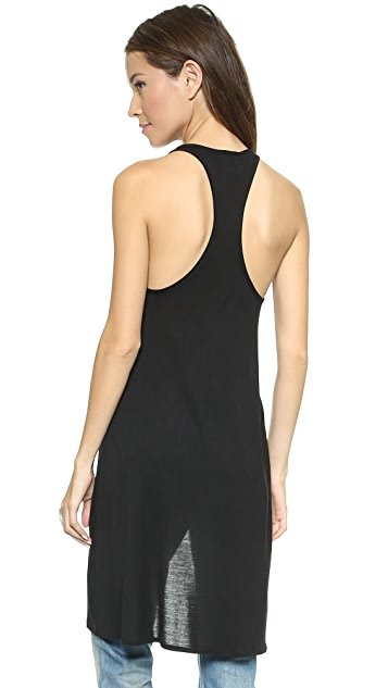 Haute Hippie High Low Racer Back Tank