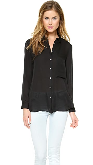 Haute Hippie Open Back Button Down