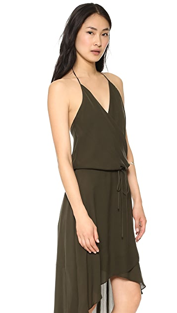 Haute Hippie Wrap Halter Dress