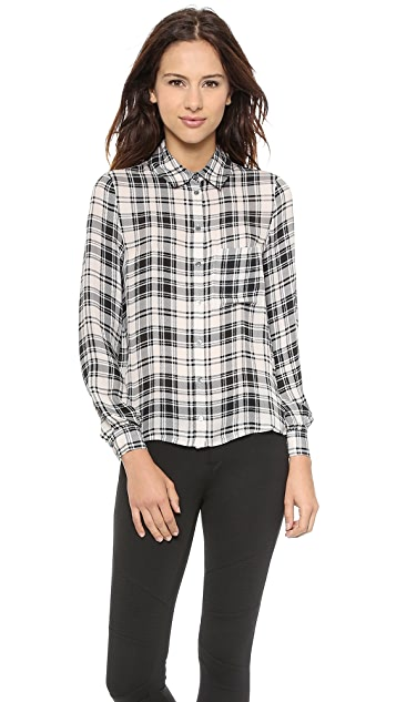 Haute Hippie To JJ with Love Plaid Blouse