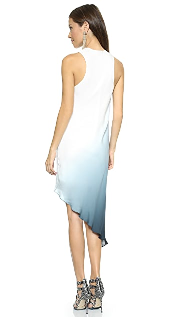 Haute Hippie Side Tuck Ombre Dress